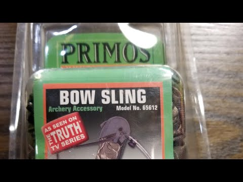 Primos bow sling, hunting bow shoulder strap, how to use a bow sling.