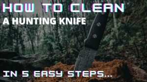 How to clean a hunting knife - in 5 easy steps